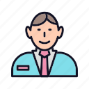 account, businessman, man, manage, manager, people, profile icon