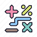 accounting, calculation, education, finance, math, mathematical, school icon