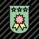 achievement, gold, medal, reward, star, trophy, win icon