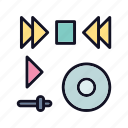 audio, media, multimedia, music, player, video, volume icon