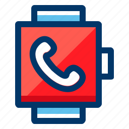 call, chat, communication, connection, network, smart, watch icon