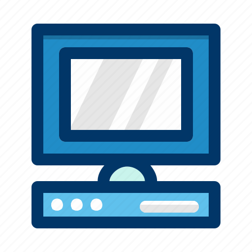 computer, device, display, monitor, pc, screen, technology icon