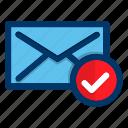 message, confirm, communication, envelope, chat, mail