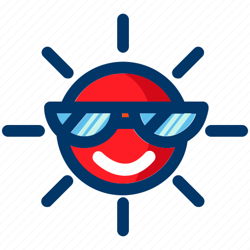 cool, forecast, summer, sun, sunny, weather icon
