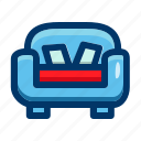 couch, interior, sofa, furniture, furnishings, seat
