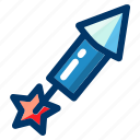 celebration, firework, fireworks, launch, rocket icon