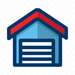 building, car, construction, garage, transportation, vehicle icon