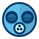 avatar, emoticon, emotion, face, gas, mask icon