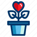 growing, heart, love, romantic, valentine, valentines icon