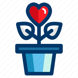 growing, heart, love, romantic, valentine, valentines icon