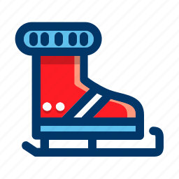 christmas, holiday, ice, skate, winter, xmas icon