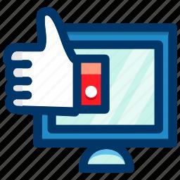 computer, device, display, like, monitor, screen icon