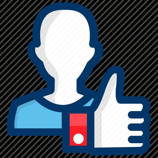 account, avatar, like, man, person, profile, user icon