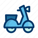 delivery, scooter, transport, transportation, vehicle, vespa icon
