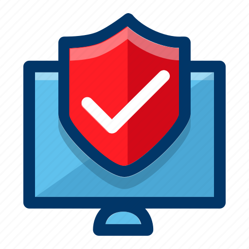 computer, protection, safety, screen, secure, security icon