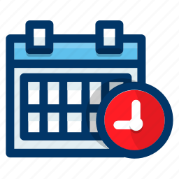 appointment, calendar, clock, plan, schedule, time icon