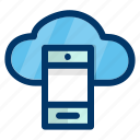 cloud, mobile, phone, data, network, storage