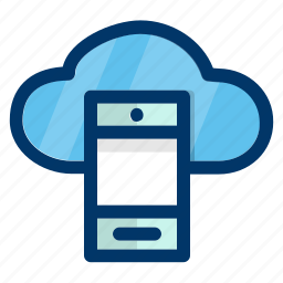 cloud, data, mobile, network, phone, storage icon