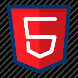 code, coding, five, html, programming, web icon