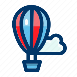 air, balloon, hot, transportation, travel icon