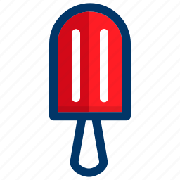 cream, dessert, food, ice, stick, summer, sweet icon