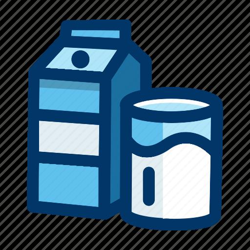 beverage, carton, drink, glass, milk icon