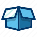 box, delivery, open, package, present icon