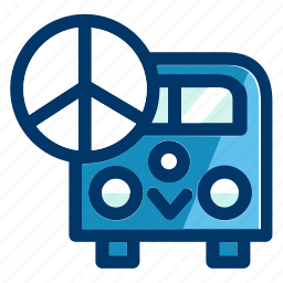 bus, peace, transport, transportation, travel, vehicle icon