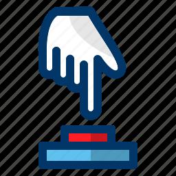 begin, hand, media, push, start icon