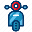front, scooter, transport, transportation, vehicle, vespa icon