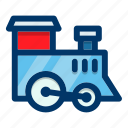 child, locomotive, toy, train, transport, vehicle icon