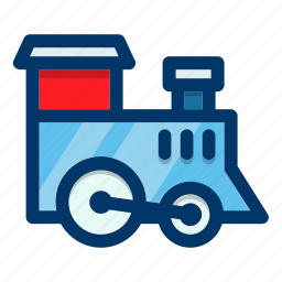 child, locomotive, toy, train, transport, vehicle icon