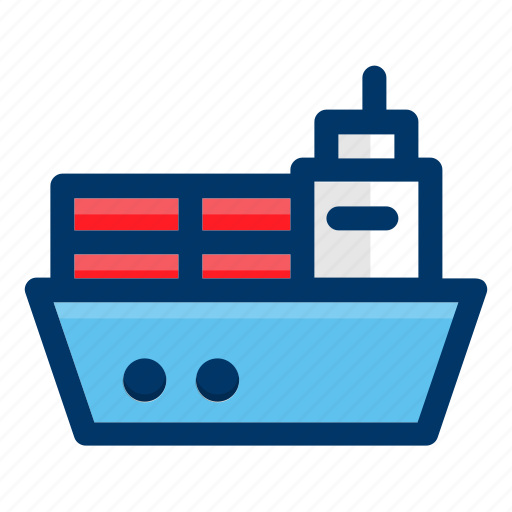 cargo, delivery, ship, shipping, transport icon