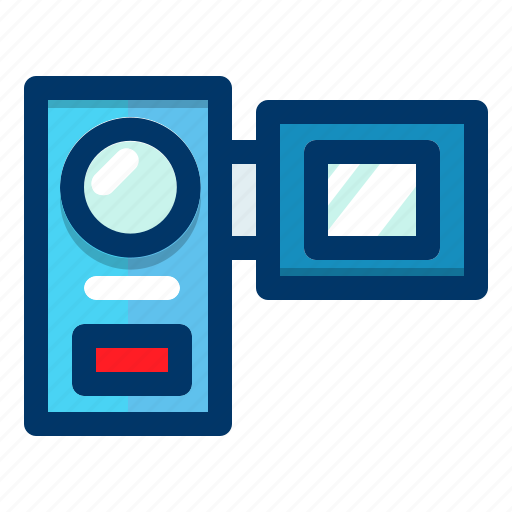 camera, device, handheld, media, recorder, video icon