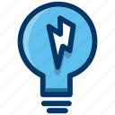 bulb, energy, idea, light, lightbulb, power icon