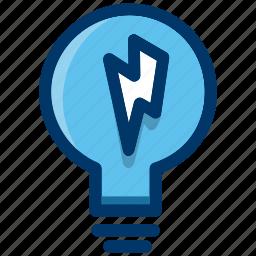 bulb, energy, idea, light, lightbulb, power icon