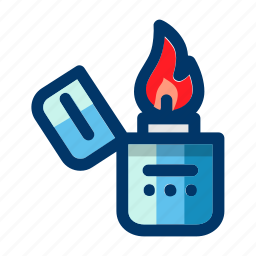 camp, cigarette, fire, lighter, tool icon
