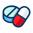capsule, drugs, medical, medication, medicine, pills, tablets icon
