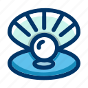 marine, nautical, ocean, pearl, sea, seawater, shell icon