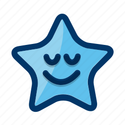 favorite, night, sleeping, smiling, star icon