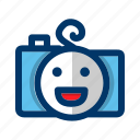 baby, camera, child, image, photography, picture, smiling icon