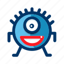 avatar, emoticon, face, halloween, monster, smiling icon