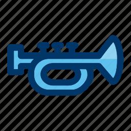 announcement, instrument, music, musical, trumpet icon