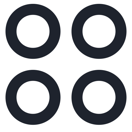 app, application, circle, circles, four, sign, symbol icon