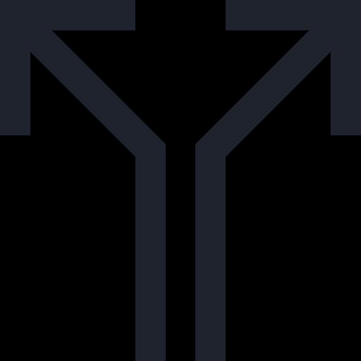 Arrows, gps, navigation, roads, split icon - Free download