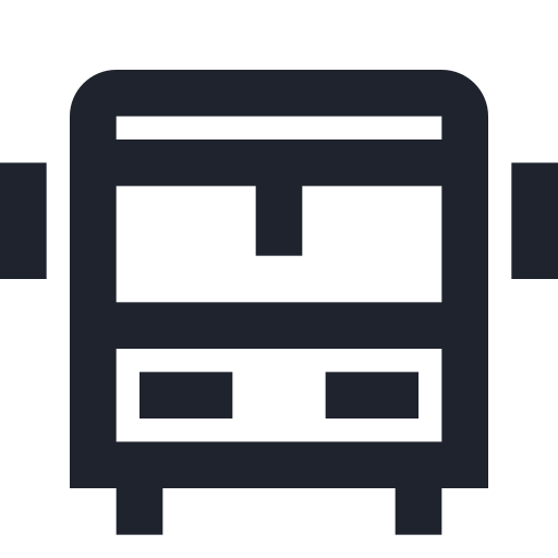 auto, bus, public, school, station, traffic, transportation, vehicle icon
