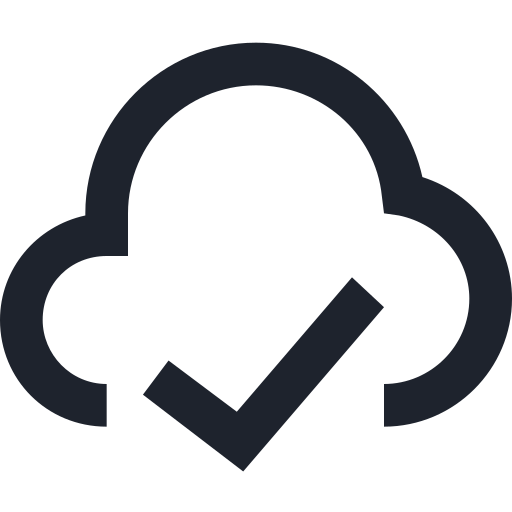 cloud, depozit, ok, sign, space, storage, wireless icon