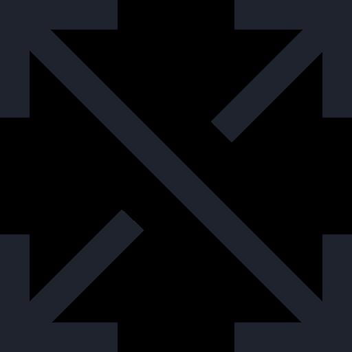 arrows, full, scale, screen, symbol icon