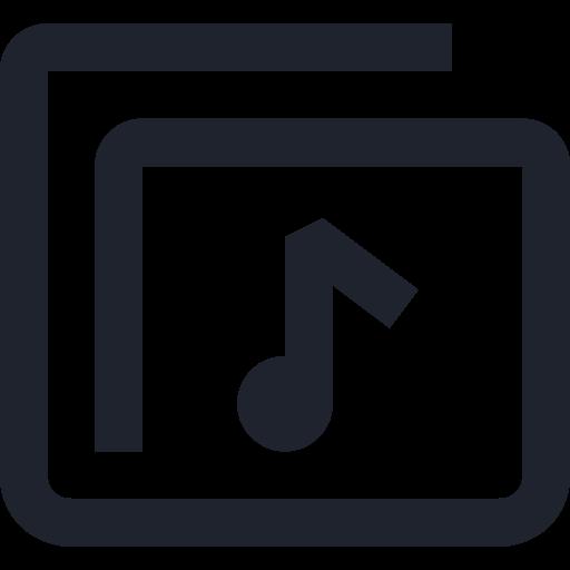 files, folder, media, music, musical, note, storage icon