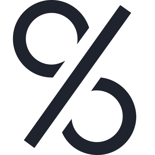 banking, credit, economy, finance, loan, morgage, percent, sign icon